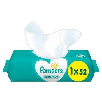 Cалфетки Pampers Sensitive 52шт