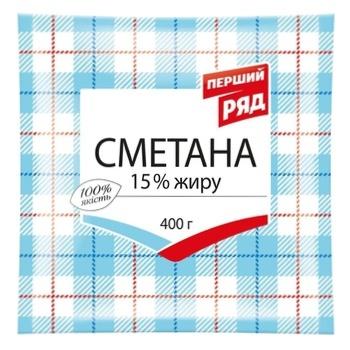 Pershyj Rjad Sour Cream 15% 400g