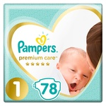 Pampers Premium Care Diapers Size 1 Newborn 2-5kg 78pcs