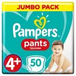 Подгузники-трусики Pampers Pants размер 4+ Maxi 9-15кг 50шт
