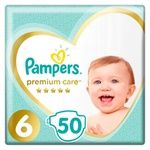 Підгузки Pampers Premium Care розмір 6 Extra Large 13+кг 50шт