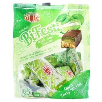 Конфеты Лукас BiFesti со вкусом лайма 200г