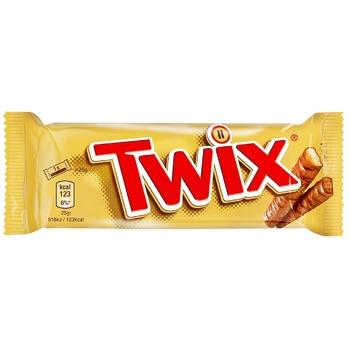 Печиво Twix пісочне з карамеллю вкрите молочним шоколадом 50г