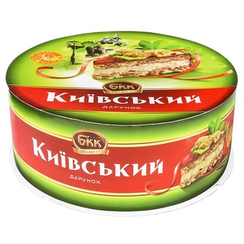 Торт БКК Киевский подарок с арахисом 450г