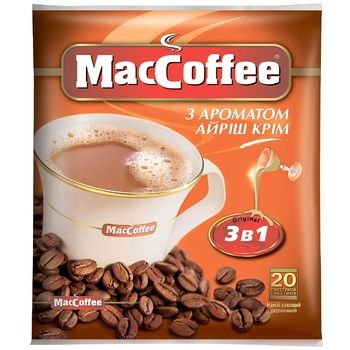 MacCoffe Irish Cream Coffee Drink 18g - buy, prices for CityMarket - photo 1