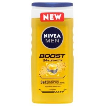 Nivea Boost 3in1 Shower Gel 250ml - buy, prices for CityMarket - photo 1