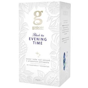 Чай черный Grace! Ивнинг Тайм с ароматом бергамота в пакетиках 25штх2г - купить, цены на Восторг - фото 1