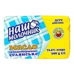 Масло Наш Молочник Селянське сладкосливочное ДСТУ 72,6% 100г