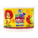 Йогурт Lactel Локо Моко яблоко и груша, обогащенный кальцием, омега 3 и витамином D3 1,5% 115г