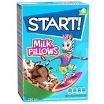 Сухі сніданки Start! зернові подушечки з молочною начинкою 250г