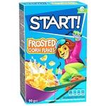 Сухие завтраки Start! зерновые хлопья кукурузные глазированные 90г