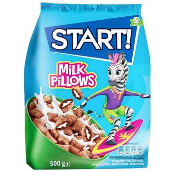 Готовый завтрак Start! Подушечки с молочной начинкой 500г