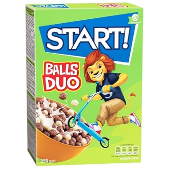 Start! Duo Balls Grain Dry Breakfast 250g - buy, prices for CityMarket - photo 1