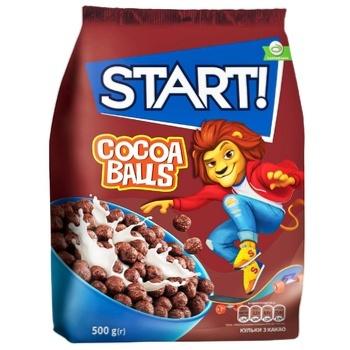 Готовий сніданок Start! Кульки з какао 500г - купити, ціни на ЕКО Маркет - фото 1