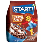 Сухі сніданки Start! зернові кульки з какао 150г