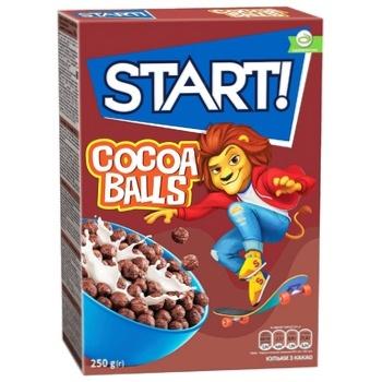Сухі сніданки Start! зернові кульки з какао 250г