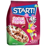 Start! With Cocoa Filling Grain Pillows Dry Breakfast 500g