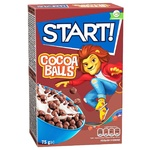 Сухі сніданки Start! зернові кульки з какао 75г
