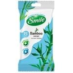 Салфетки Smile влажные антибактериальные бамбук 15шт