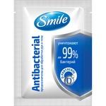 Серветка волога Smile Antibacterial Саше 30шт