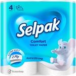 Папір туалетний Selpak Comfort білий 4шт