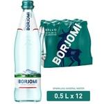 Вода Borjomi мінеральна газована скляна пляшка 0,5л
