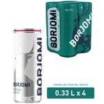 Вода Borjomi мінеральна сильногазована з/б 4шт 0,33л
