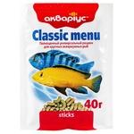 Корм Аквариус для рыб палочки 40г