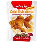 Корм для рыб Аквариус Золотая рыбка сухой 40г