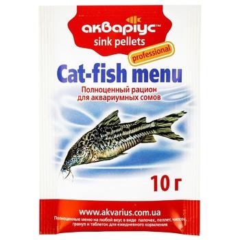 Корм для риб Акваріус Сомики пелети, що тонуть 10г