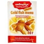 Корм для рыб Аквариус Золотая рыбка пеллеты плавающие 10г