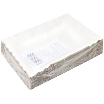Paper rectangular plate 140*200mm, 100pcs - buy, prices for Metro - photo 1