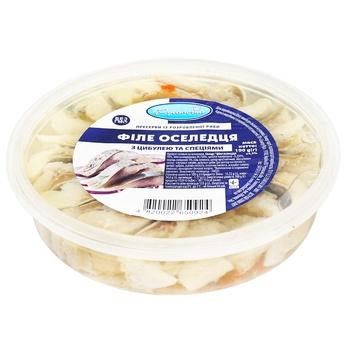 Сельдь Русалочка филе в масле с луком и специями 190г