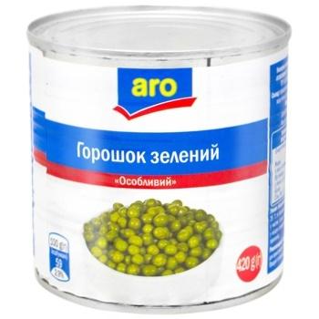 Горошок зелений Aro консервований - купити, ціни на Метро - фото 1