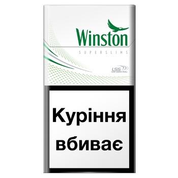 Цигарки Winston Fresh Menthol Super Slims - купити, ціни на CітіМаркет - фото 1
