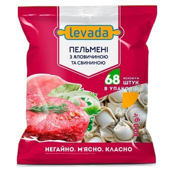 Пельмени Левада с говядиной и свининой 800г