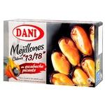 Dani Chilean Mussels in Hot Spanish Sauce 13-18pcs 106g