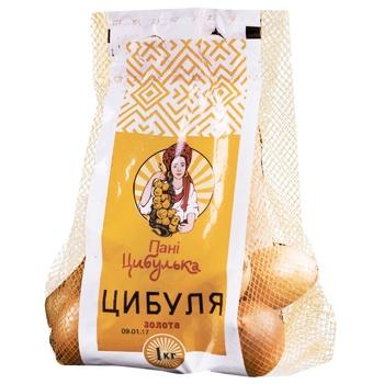 Лук Пані Цибулька Золотой 1кг - купить, цены на Ашан - фото 1