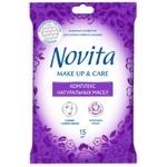 Салфетки влажные Novita Make up Delicate комплекс натуральных масел 15шт