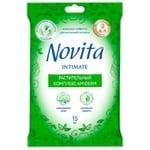 Серветки Novita Soft Intimate вологі для інтимної гігієни з рослинним комплексом Amiderm 15шт
