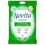 Novita Soft Intimate Wet wipes for intimate hygiene  15pcs