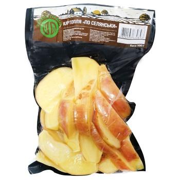 Картопля Славянка По-селянськи свіжа очищена мита 500г - купити, ціни на Ашан - фото 3