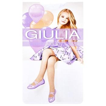 Колготы Giulia Judi 40Den детские р.140-146 белые