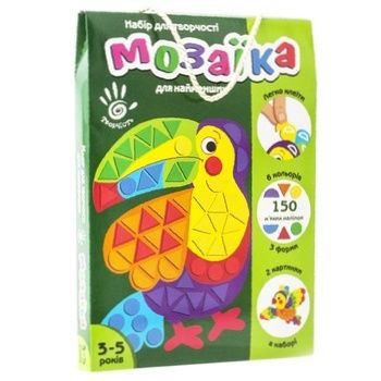 Набор для творчества Vladi Toys М'яка фігурна мозаїка в ассортименте