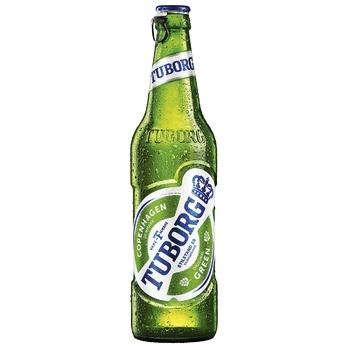 Пиво Tuborg Green светлое пастеризованное 4.6% 0,5л