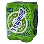 Пиво Tuborg Green світле пастеризоване 4.6% 4шт 0,5л