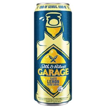 Пиво Seth & Riley's Garage Hard Lemon світле 4,6% 0,5л - купити, ціни на Ашан - фото 1