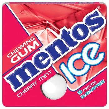 Жевательная резинка Mentos Ice Вишня ментол 12,9г