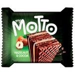 Вафлі Mymotto горіх та какао 34г