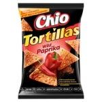 Чипсы Чио Тортиллас Вайлд Паприка кукурузные со вкусом паприки и острого перца 125г